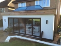 Completed kitchen extension and new patio - external